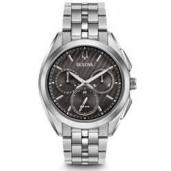 Bulova Men's Watch Progressive Dress Curv 96A186 Quartz Chronograph