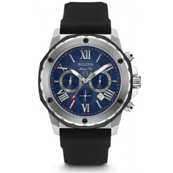 Bulova Men's Watch Marine Star Quartz Chronograph 98B258