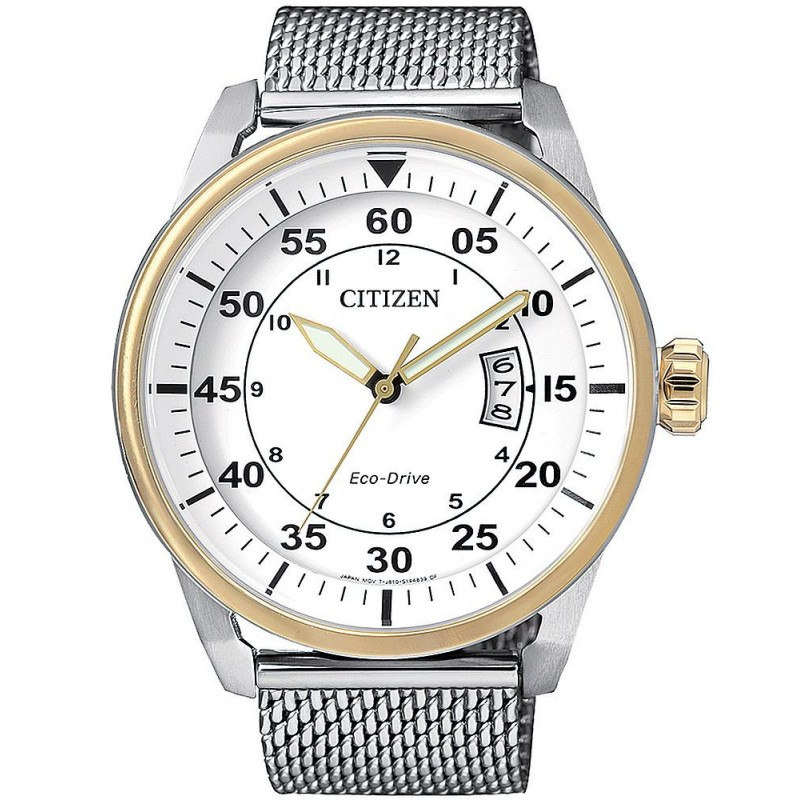huge selection of d6f18 5cd6e Citizen Men 's Watch Aviator Eco-Drive AW1364-54A