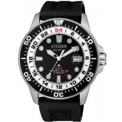 Citizen Men's Watch Promaster Diver's Eco-Drive Super Titanium GMT BJ7110-11E