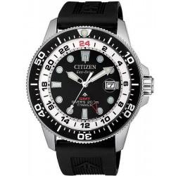 Citizen Men's Watch Promaster Diver's Eco-Drive Super Titanium GMT BJ7110-11E
