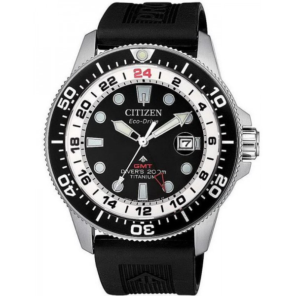 Buy Citizen Men's Watch Promaster Diver's Eco-Drive Super Titanium GMT BJ7110-11E