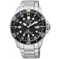 Citizen Men's Watch Promaster Diver's Eco-Drive Super Titanium GMT BJ7110-89E