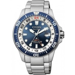 Citizen Men's Watch Promaster Diver's Eco-Drive Super Titanium GMT BJ7111-86L