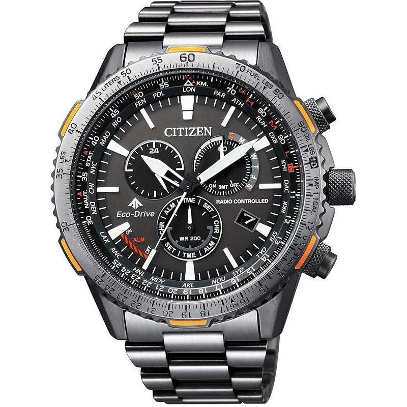 3cf2aa09174 Citizen Men s Watch Radio Controlled Chrono Pilot CB5007-51H