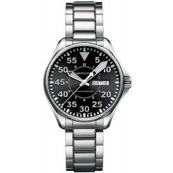 Hamilton Men's Watch Khaki Aviation Pilot Day Date Auto H64425135