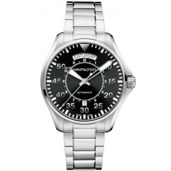 Hamilton Men's Watch Khaki Aviation Pilot Day Date Auto H64615135
