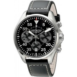 Hamilton Men's Watch Khaki Aviation Pilot Auto Chrono H64666735