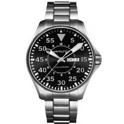 Hamilton Men's Watch Khaki Aviation Pilot Day Date Auto H64715135