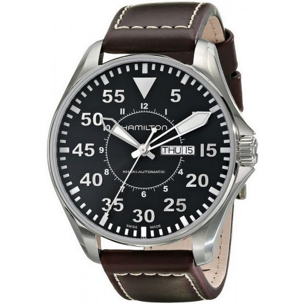 Buy Hamilton Men's Watch Khaki Aviation Pilot Day Date Auto H64715535