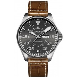 Hamilton Men's Watch Khaki Aviation Pilot Day Date Auto H64715885