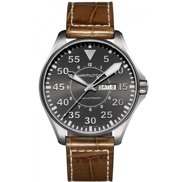 Buy Hamilton Men's Watch Khaki Aviation Pilot Day Date Auto H64715885