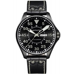 Hamilton Men's Watch Khaki Aviation Pilot Day Date Auto H64785835