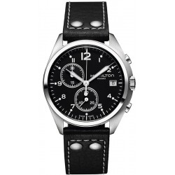 Hamilton Men's Watch Khaki Aviation Pilot Pioneer Chrono Quartz H76512733