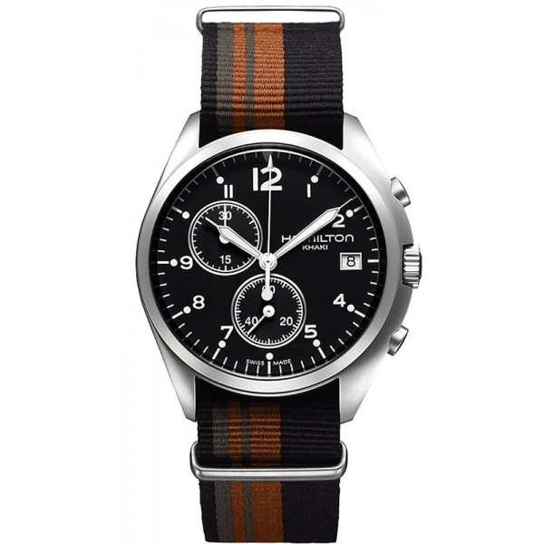 Buy Hamilton Men's Watch Khaki Aviation Pilot Pioneer Chrono Quartz H76552933