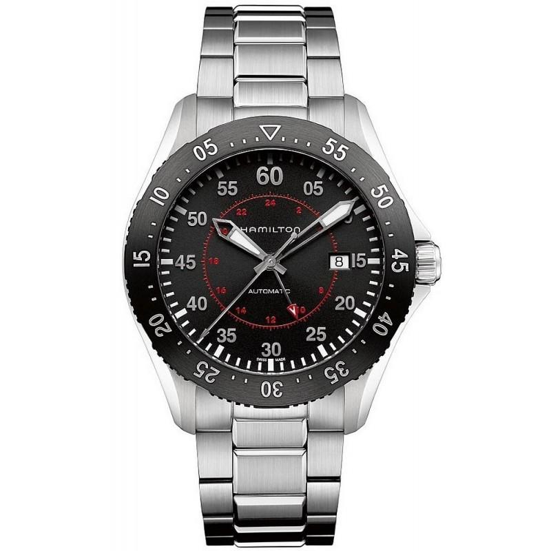 Hamilton Men s Watch Khaki Aviation Pilot GMT Auto H76755135 c6a545a9b