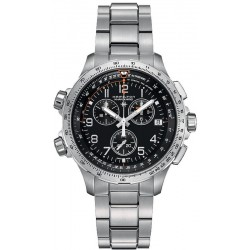 Hamilton Men's Watch Khaki Aviation X-Wind GMT Chrono Quartz H77912135