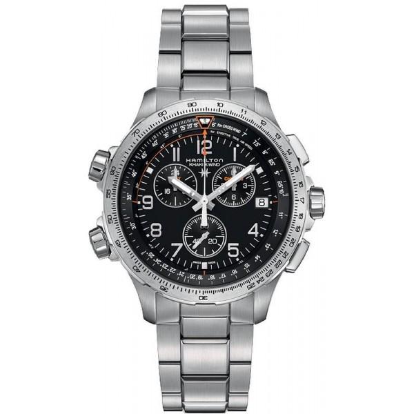 Buy Hamilton Men's Watch Khaki Aviation X-Wind GMT Chrono Quartz H77912135