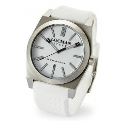 Locman Men's Watch Stealth Quartz 020100WHNNKSIW