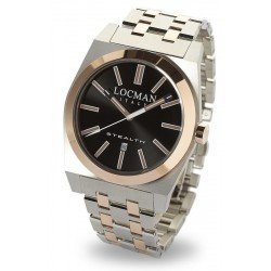 Locman Men's Watch Stealth Quartz 02010RBKF5N0BAR