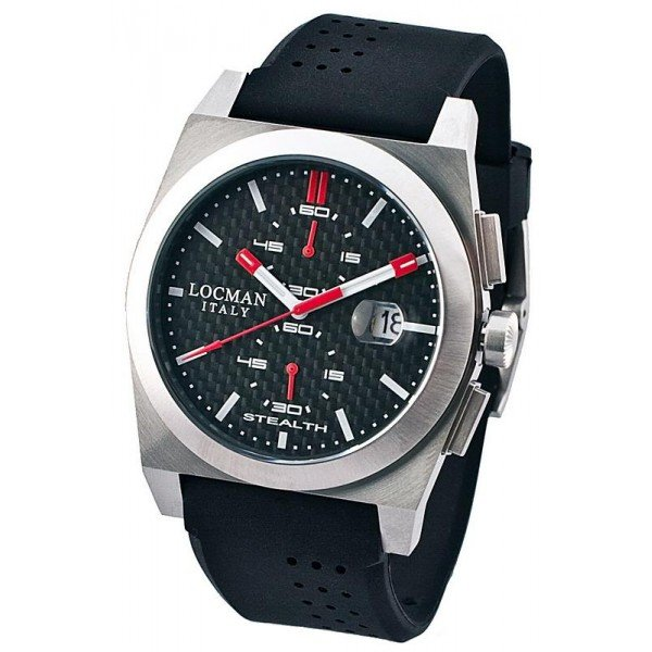 Buy Locman Men's Watch Stealth Quartz Chronograph 020200CBFRD1GOK