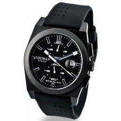 Locman Men's Watch Stealth Quartz Chronograph 0202BKBKFWB1GOK