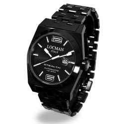 Locman Men's Watch Stealth Automatic 0205BKBKFBL0BRK