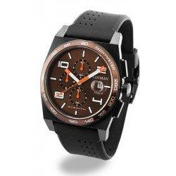 Locman Men's Watch Stealth Quartz Chronograph 0209BKNBNWHOSIK