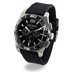 Locman Men's Watch Stealth Quartz Chronograph 021200KA-BKKSIK