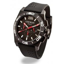 Locman Men's Watch Stealth Quartz Chronograph 0212BKKA-CBKSIK