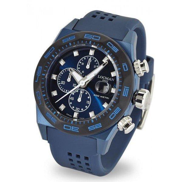 Buy Locman Men's Watch Stealth 300MT Quartz Chronograph 0217V4-BKBLNKS2B