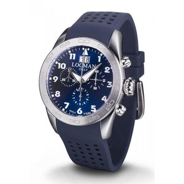 Buy Locman Men's Watch Isola d'Elba Quartz Chronograph 0460A02-00BLWHSB