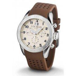 Buy Locman Men's Watch Isola d'Elba Quartz Chronograph 0460A04-00AVBKSN