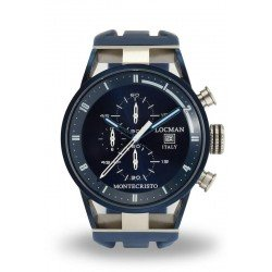 Locman Men's Watch Montecristo Quartz Chronograph 0510BLBLFWH0SIB