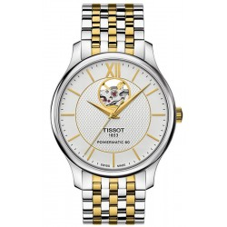 Tissot Men's Watch Tradition Powermatic 80 Open Heart T0639072203800