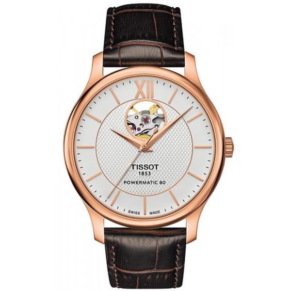 Buy Tissot Men's Watch Tradition Powermatic 80 Open Heart T0639073603800