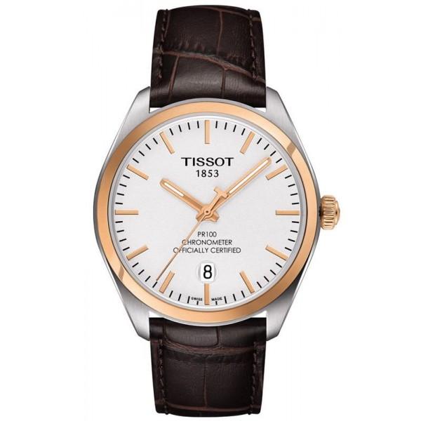 Buy Tissot Men's Watch T-Classic PR 100 COSC Quartz T1014512603100
